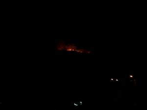 Пожарът видян от село Кладница (сн. Антонио Момчилов)