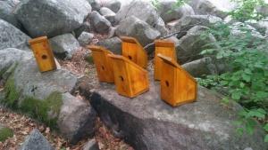 Къщички за птици на морените на Селимица